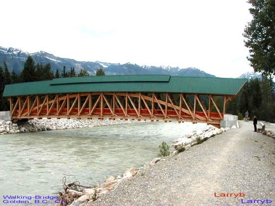 Walking Bridge at Golden BC