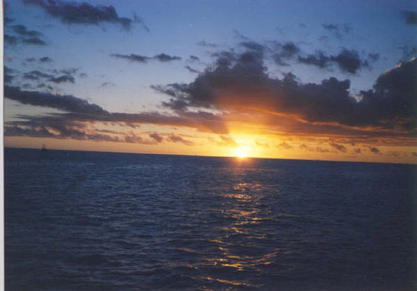 Sunset Over Waikiki